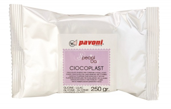 Modellier Schokolade 250 gramm soft lila