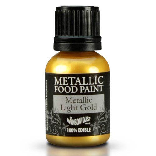 Rainbow Dust Metallic Food Paint Light Gold 25ml