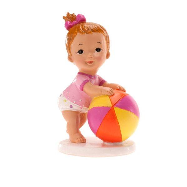 Tortenfigur - Mädchen mit Ball -