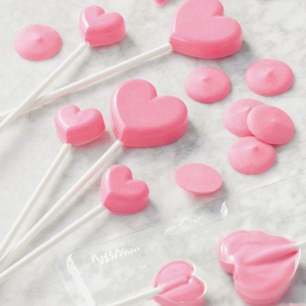 Wilton Lollipop Mold Mini Herzen