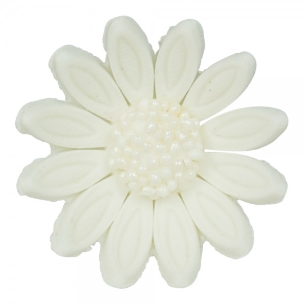 Zucker Dekoration Blüten weiß 6 Stück