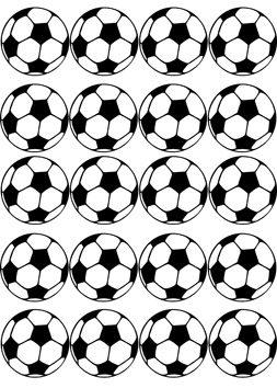 Fußball Oblaten 3cm