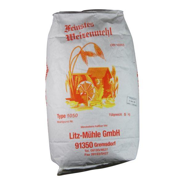 Weizenmehl Typ 1050 Litz-Mühle, 5kg